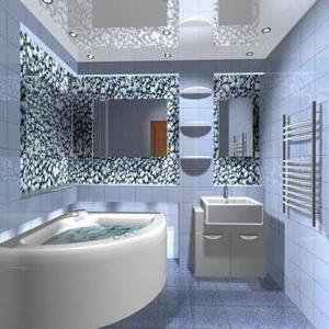 Натяжные потолки для кухни и ванной